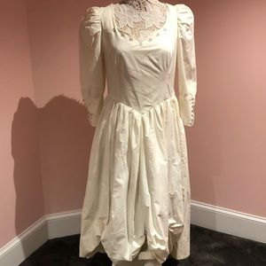 WOW vintage 80s does Georgian 1700s style gown
